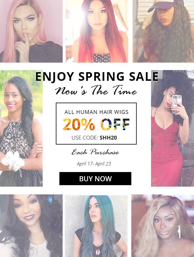 human hair wigs spring sale