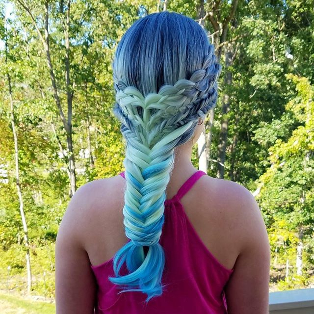 When Braids Meet Teal Hair Color 04