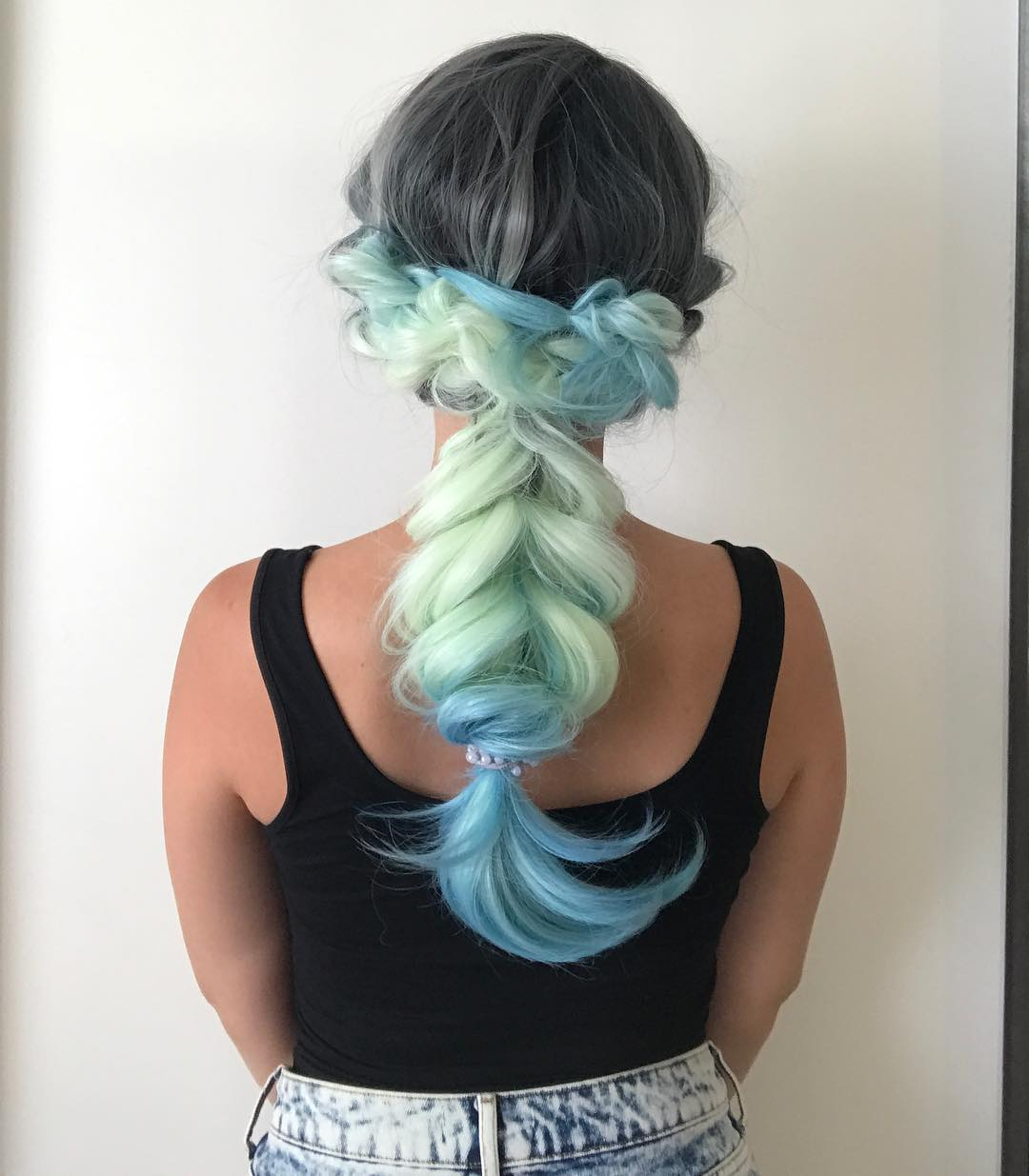 When Braids Meet Teal Hair Color 02