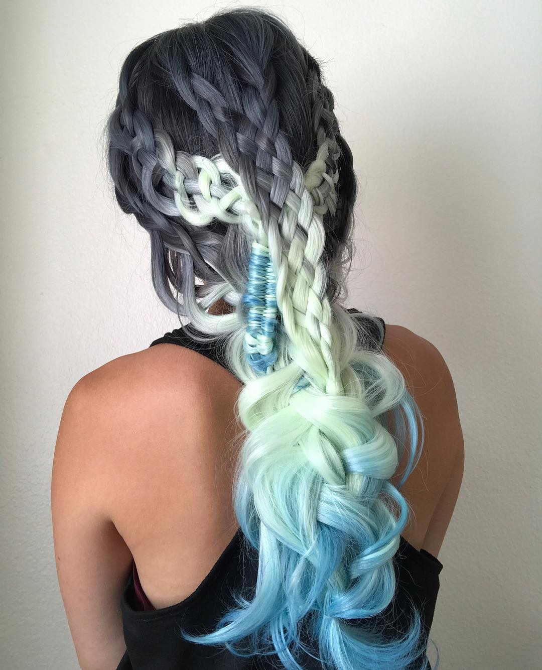 When Braids Meet Teal Hair Color 03