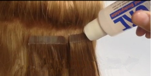 How to remove and re use tape hair extension uniwigs official blog re taping the extensions for re use pmusecretfo Gallery
