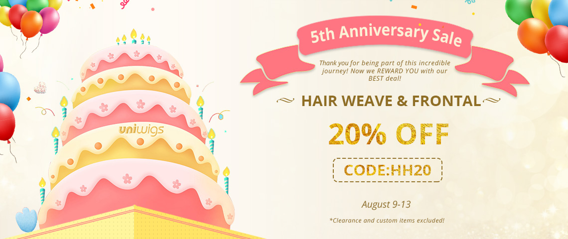 20% off for hair weaves and closures