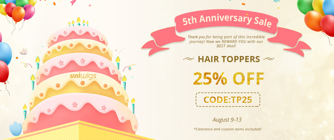 25% off for hair toppers